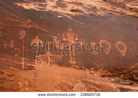 Petroglyphs Stock Photos, Royalty.