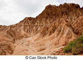 Stock Photography of Broken Hill in Torrey Pines State Park.