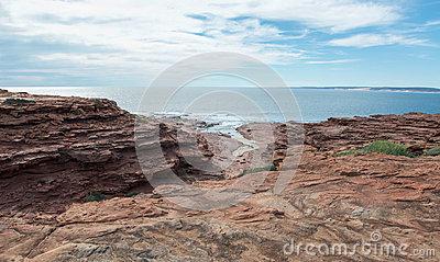 Red Bluff Sandstone Texture Stock Photo.