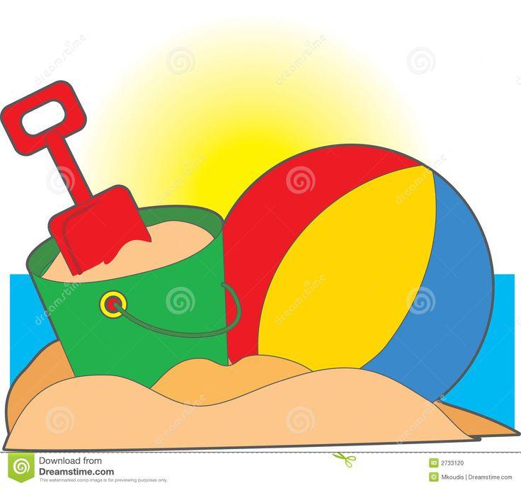 Beach Toys Clipart.