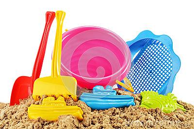 Sandpit toys clipart.