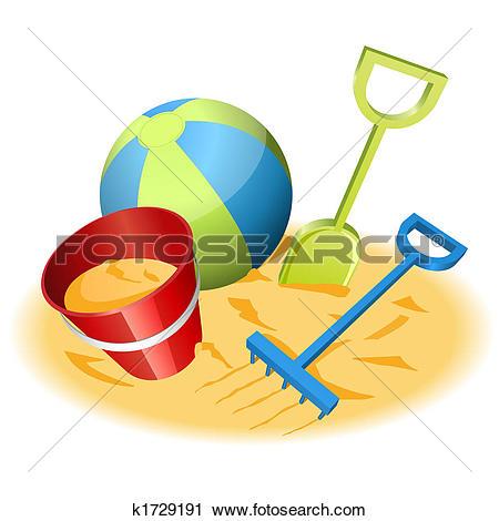 Clipart of sand bucket and shovel vmo0061.