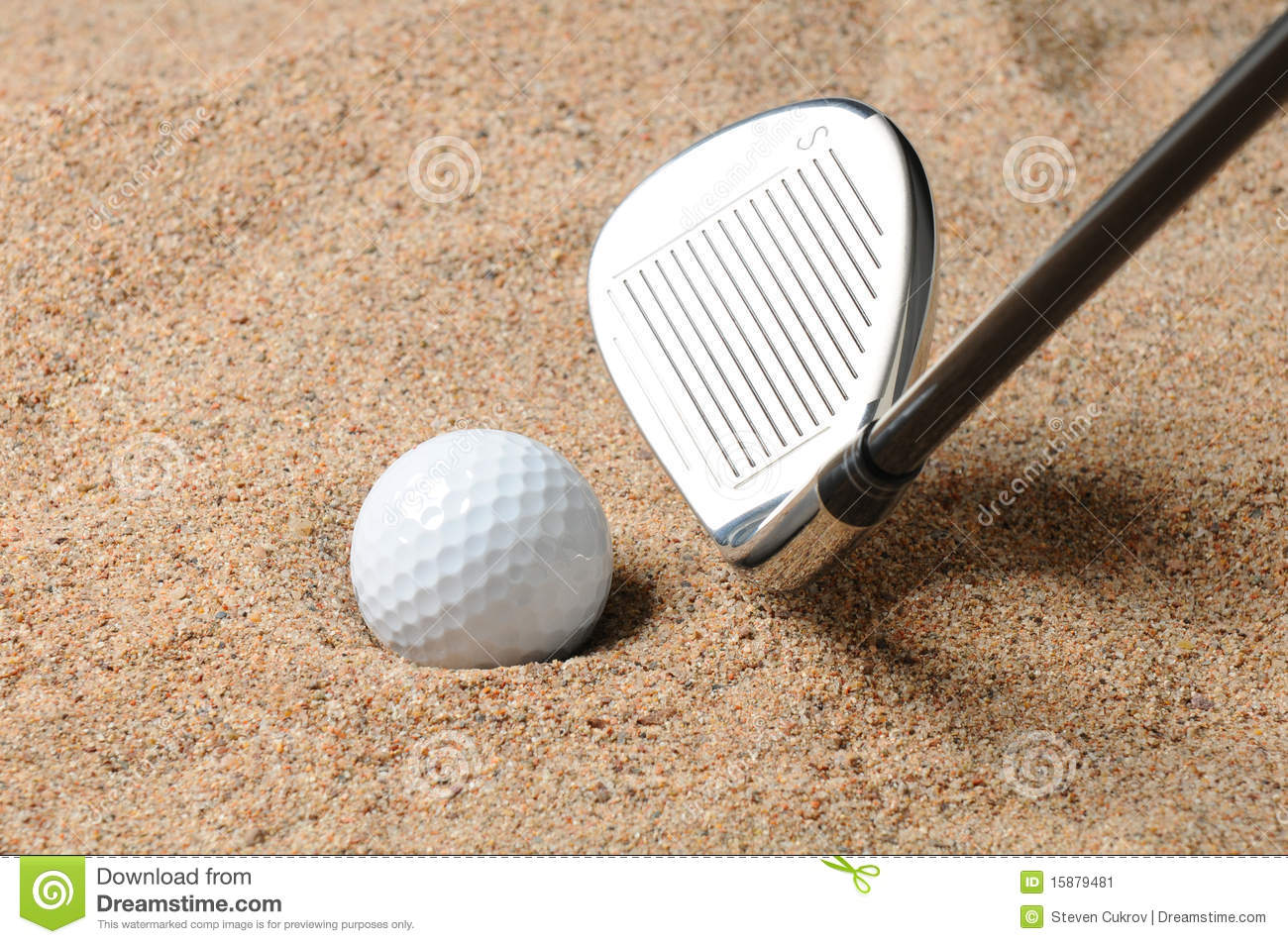 Golf Sand Trap Royalty Free Stock Photography.
