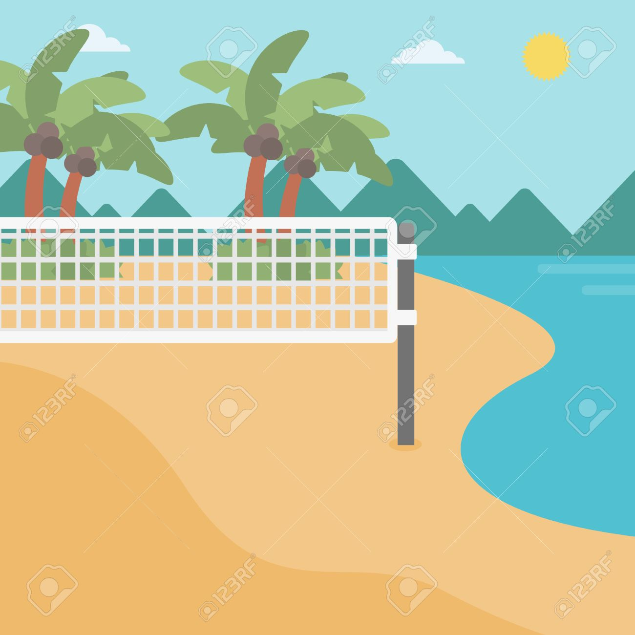 Volleyball clipart sand volleyball.