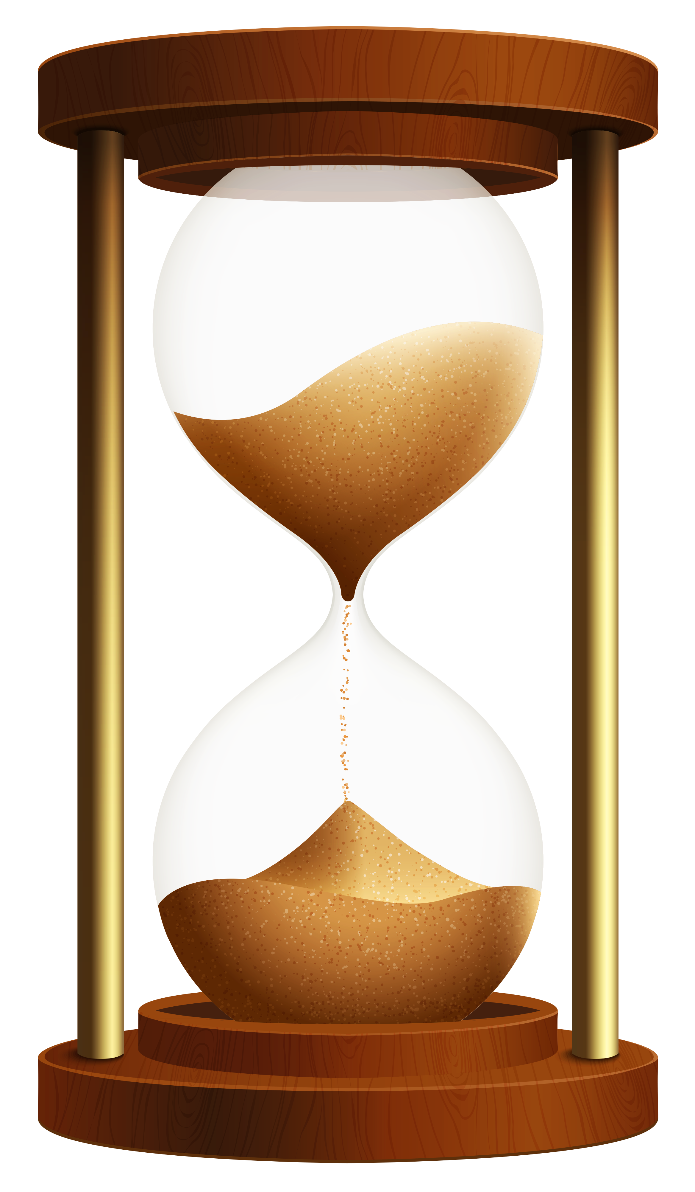 Sand Clock PNG ClipArt.