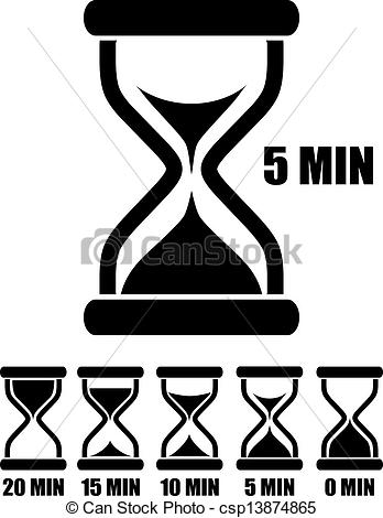 Clip Art Vector of Vector sand glass timers set csp13874865.
