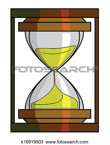 Clipart of sand watch k16919503.
