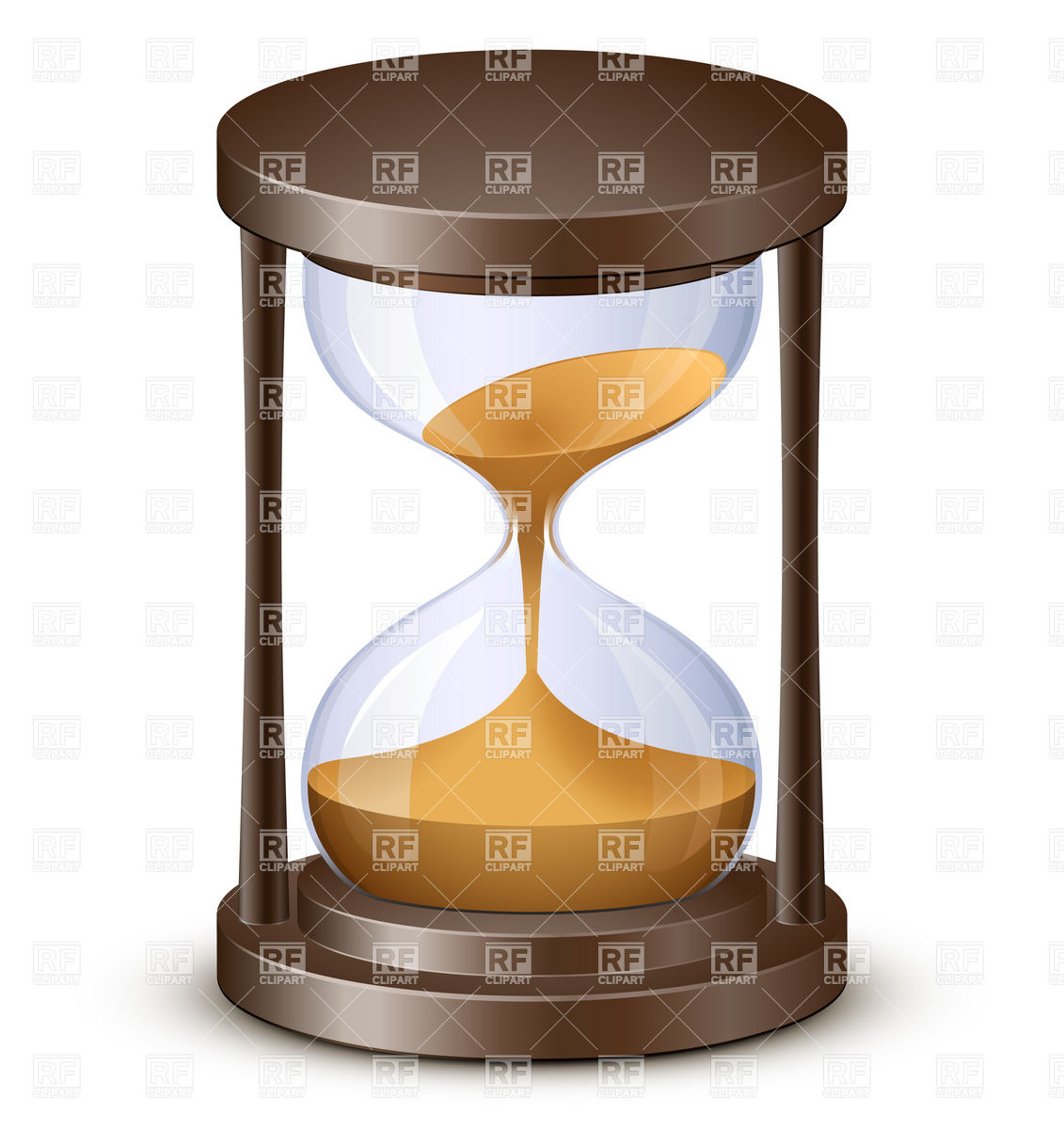 Hourglass, Sand watch Vector Image #5756.