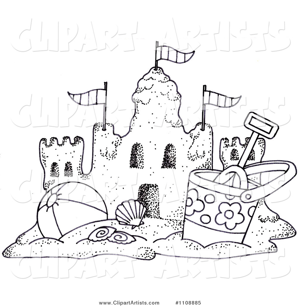 Black And White Clipart Sand Table