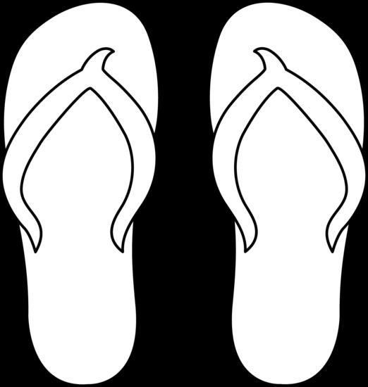Flip Flops Line Art.
