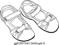 Sandals Clip Art.