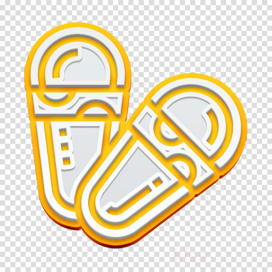 Spa Element icon Slipper icon Sandals icon clipart.