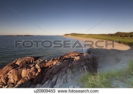 Stock Photo of Sandy beach in Sandbanks Provincial Park in Burgeo.