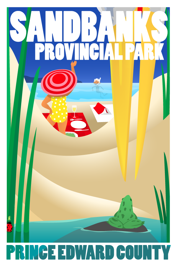 County Posters » Lunches at Sandbanks.