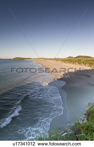 Stock Photo of Sandy beach in Sandbanks Provincial Park in Burgeo.