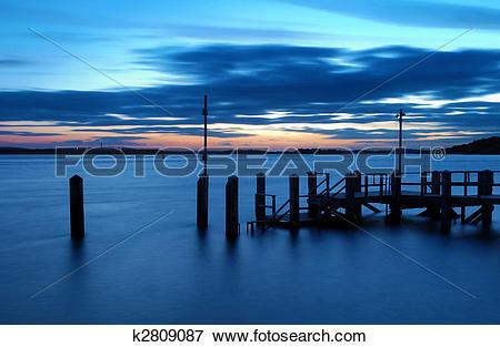 Picture of Sandbanks Sunset k2809087.