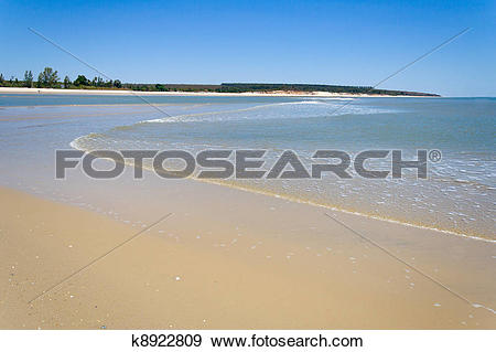 Stock Photograph of Sandbank at low tide k8922809.
