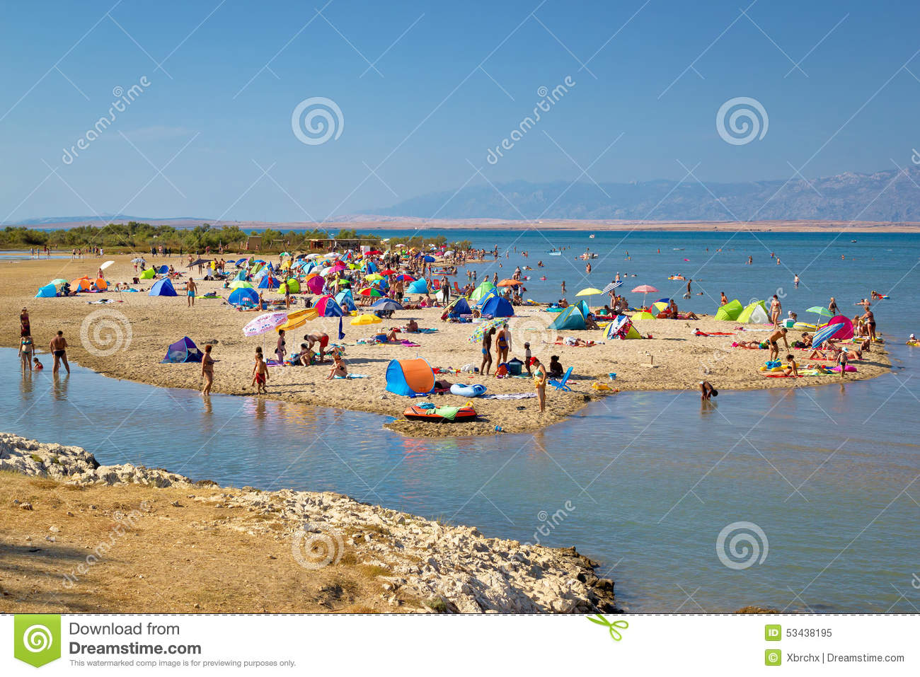 Nin Sandbar Beach Summer View Editorial Image.