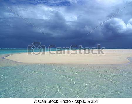 Stock Photo of Sandbar Storm.