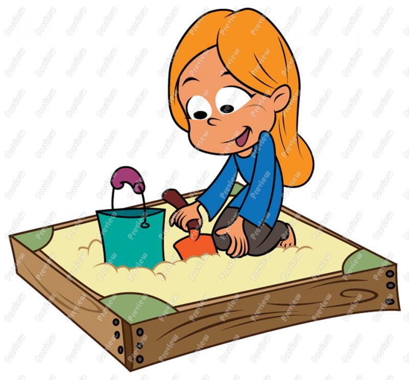 Sand Box Clipart.