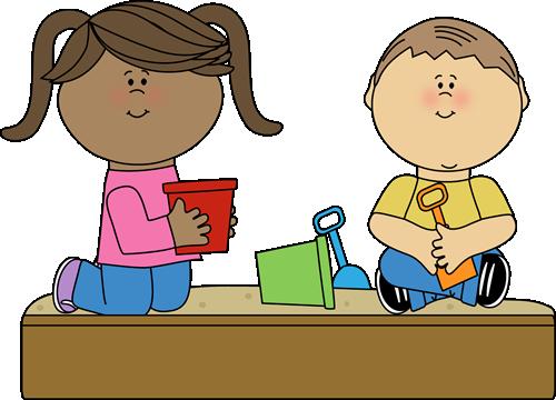 Kids Playing Clipart Sandbox In.