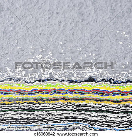 Stock Photo of Sanded wall revealing layers of paint x16960842.