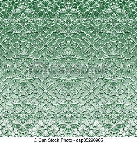 Stock Illustration of Ornamental embossed sanded glass pattern on.