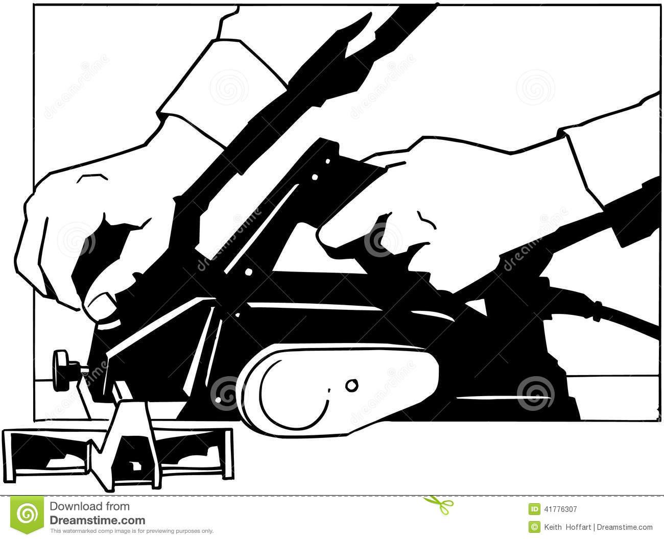 Sander Tools Cartoon Vector Clipart Stock Vector.