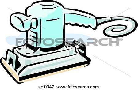 Stock Illustration of Drawing of a sander apl0047.