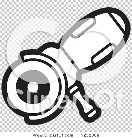 Clipart of a Black and White Sander Machine.