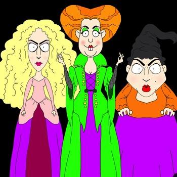 Hocus Pocus Sanderson Sisters Clip Art Freebie.