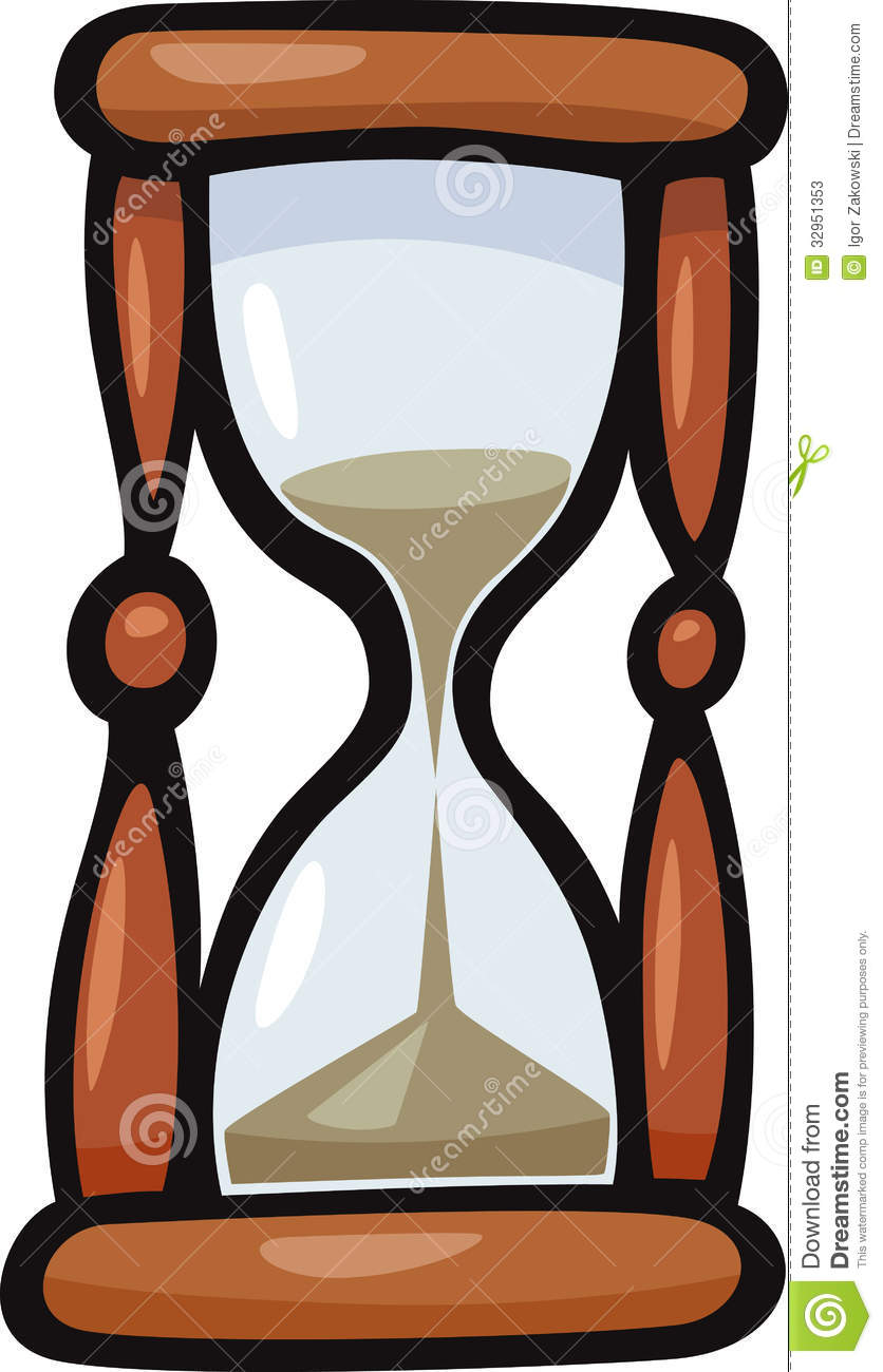 Hourglass Clip Art Cartoon Illustration Stock Photos.