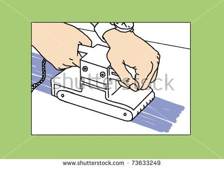 The Process Of Sanding Belt Sander Stock Photo 73633249 : Shutterstock.