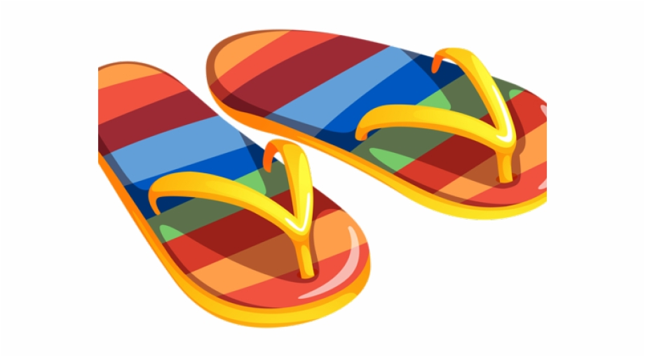 Beach Sandals Clip Art, Transparent Png Download For Free.