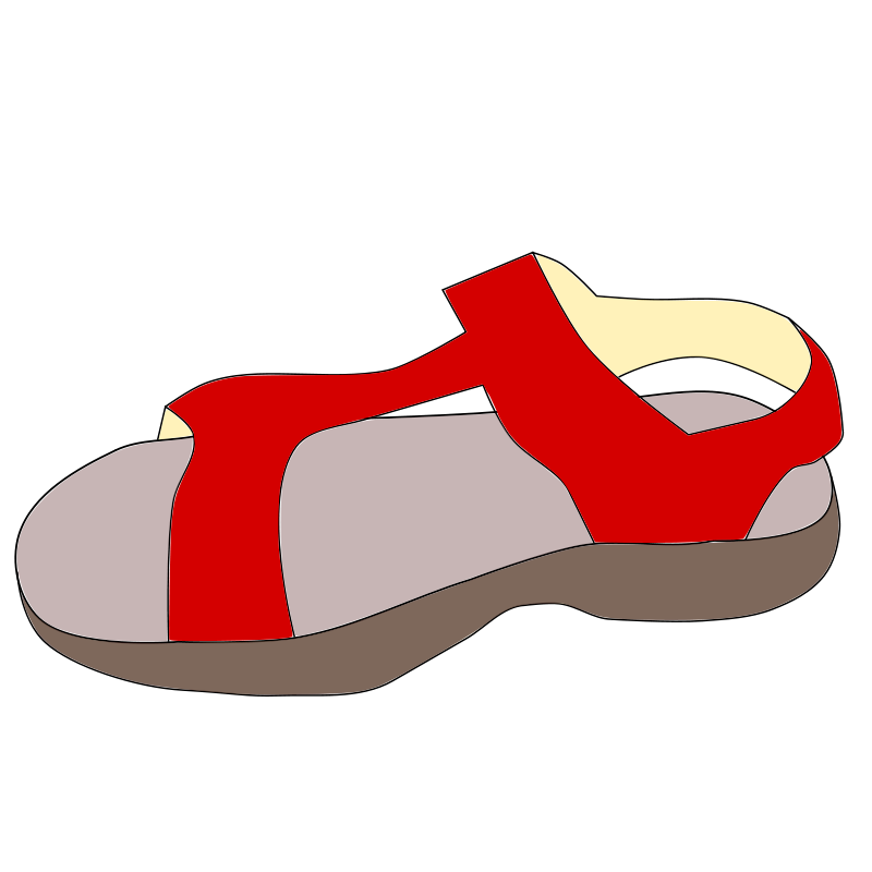 Free Clipart: Red sandal.