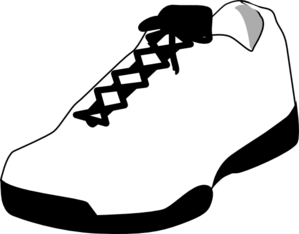 Shoe Outline White Clip Art at Clker.com.