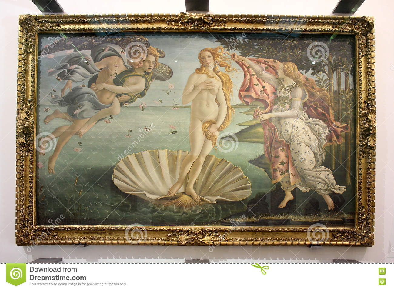 Birth Of Venus, Painting Sandro Botticelli Editorial Photography.
