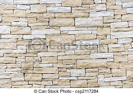 Stock Photo of Wall made from sandstone bricks csp2117284.