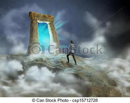 Clip Art of Dimensional gate.