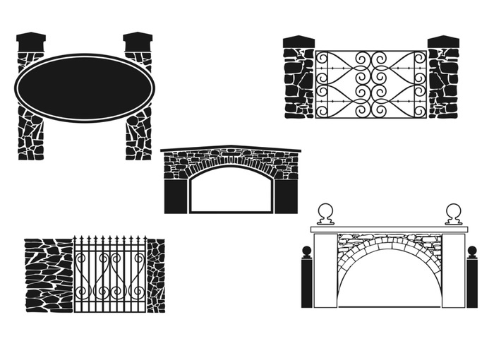 Stone Gate Vector Pack.
