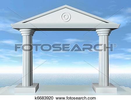 Stock Illustrations of Stone gate k6683920.