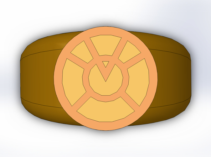 Orange Lantern Ring (PHTTJDD3S) by TrekGineer22.