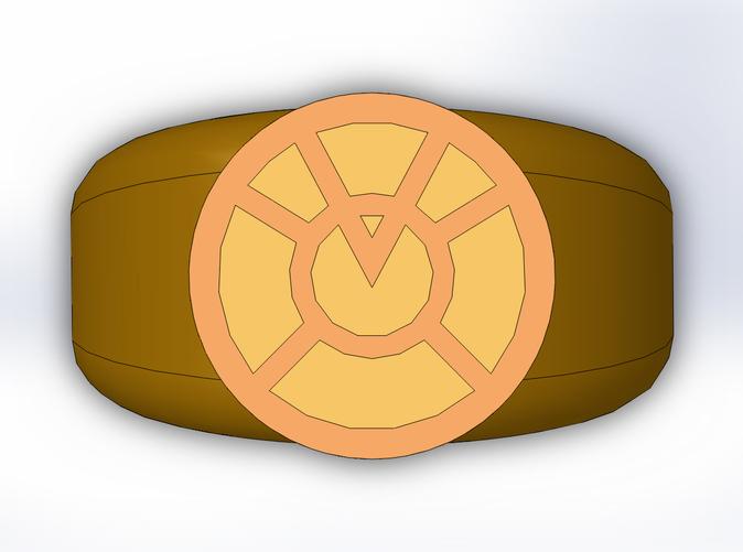 Orange Lantern Ring (PHTTJDD3S) by TrekGineer22.