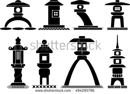 Stone Lantern Stock Photos, Royalty.