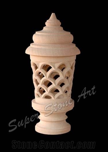 Lamp, Lanterns, Lanterns Supplier, Pink Sandstone Lanterns, Post.