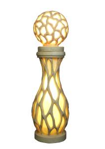 Sandstone Carving Cylindricity Garden Statue Lantern.