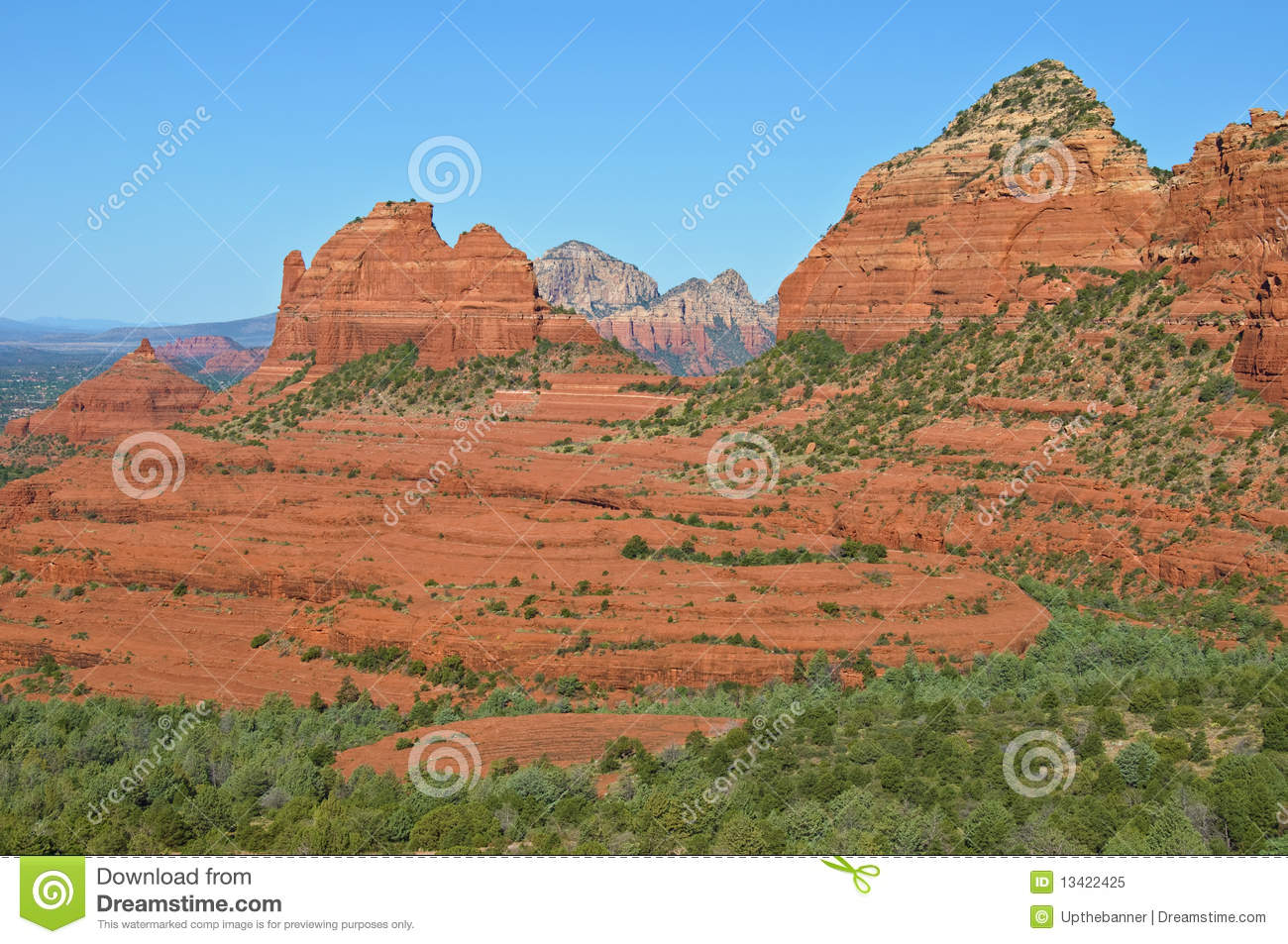 Scenic Sandstone Mountain Range Landscape Royalty Free Stock Photo.