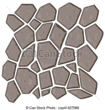 Clip Art Vector of Dry cracked sandstone ground.