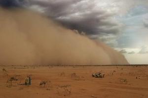Sandstorm, flood, drought , sandstorm video.