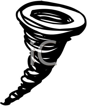 Cartoon Tornado Sandstorm Clipart.